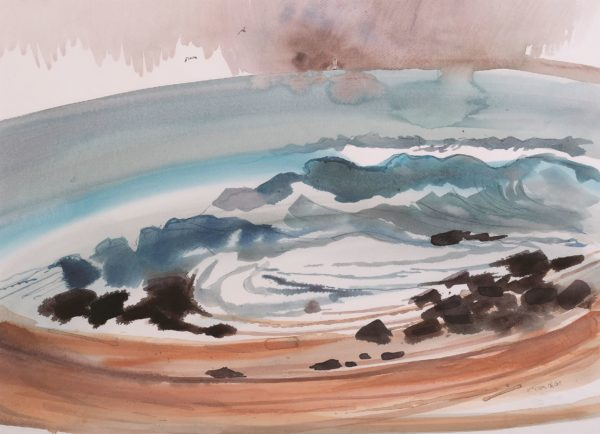 there is wisdom in the music of the waves, Susan MacColl, Stevie Nicholson, watercolour