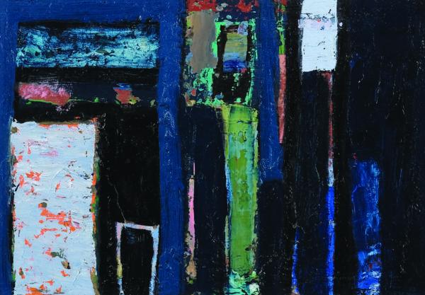 At 1.00am The Angel Spoke, Elise V. Allan, oil on paper