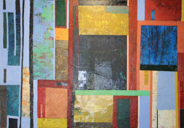 Over, Under, Through, Around, Elise V. Allan, oil on linen