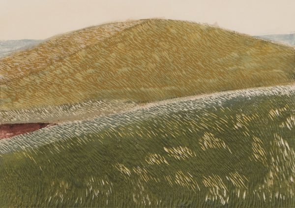 The Hill And The Way, Helen Firth, linocut