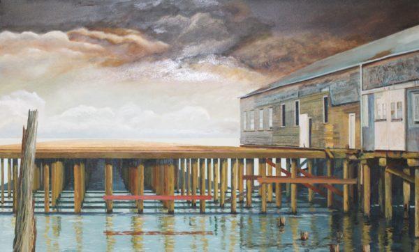 Reflection, Allan J. Robertson, oil on canvas