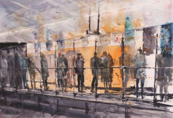 Buchanan Street, Ian Leyden, watercolour