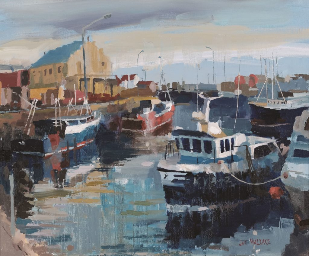 Blue Boats At Pittenweem