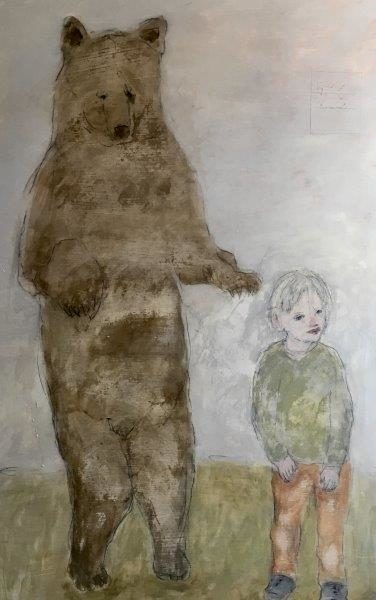 Thomas and Wojtek, Joyce Gunn Cairns, oil on board