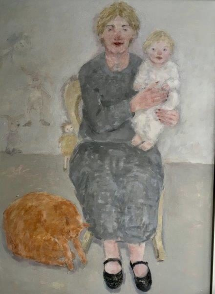 The Widow, Joyce Gunn Cairns, oil on board