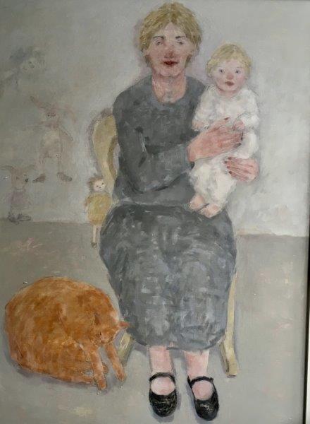 The Widow, Joyce Gunn Cairns, oil on board