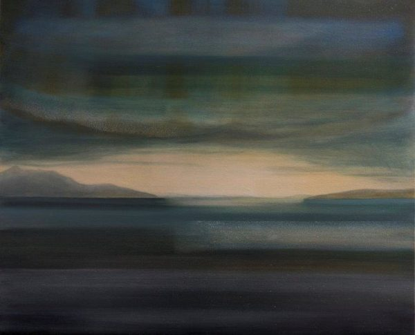 Arran Bk1, Matty Lough, Oil on Canvas, 2018, 24x20