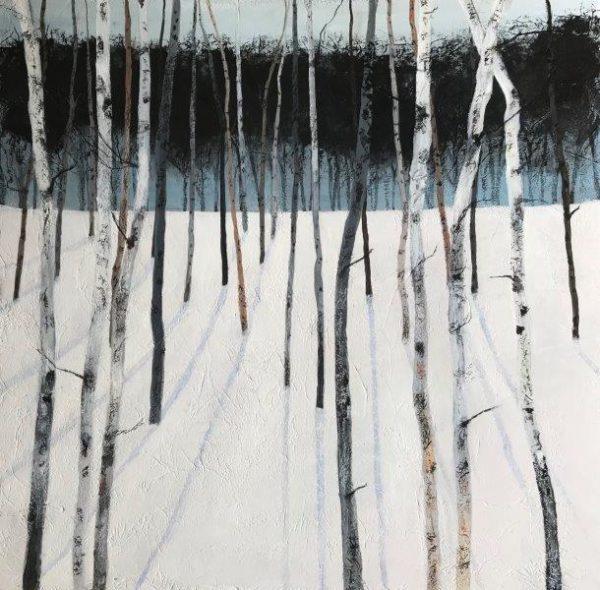 Birch Wood II, Sandra Moffat, (2019) 70 cm x 70 cm