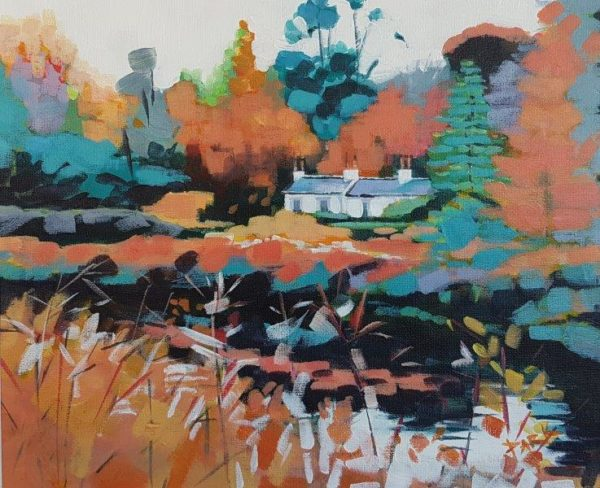 Canal Cottage, Gillian Greer Park, acrylic, May 2019 14''x18''