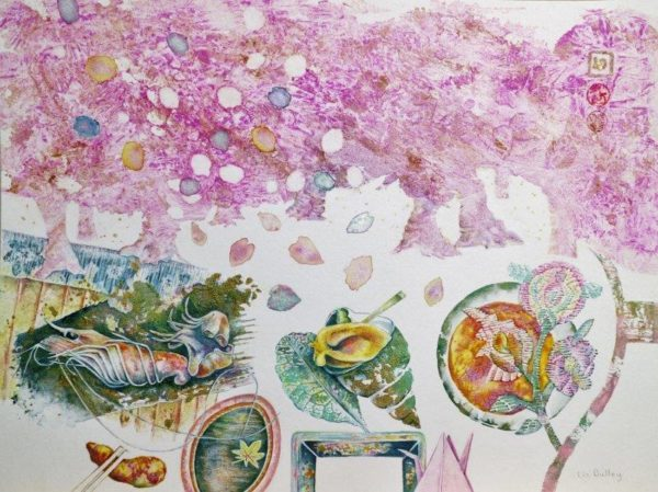 Bento Box with Spring, Liz Dulley, Watercolour - 22/09/18 - 46cm x 55cm