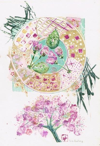 Spring Gift, Liz Dulley, Watercolour 19/06/18 - 39cm x 49cm