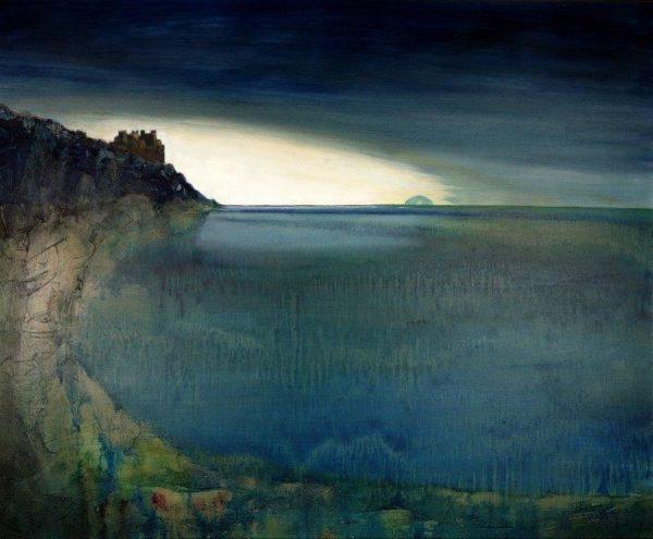 Everywhere the eye concedes to encroaching horizon, Matty Lough, oil on canvas