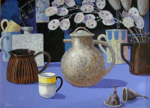 Speckled Teapot, Elizabeth Bruce, Acrylic, 2018, 30 x 40 cm