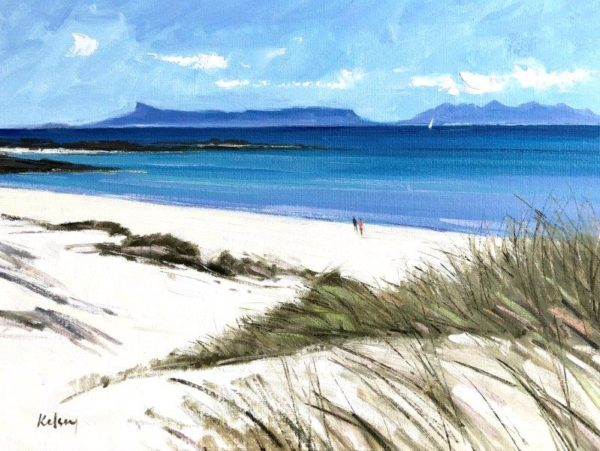 View from the Dunes, Arisaig, Robert Kelsey, oil on linen, 2019. 46 x 60 cm