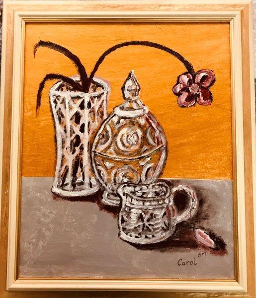 Cut Glass, Carol Elizabeth Morrow, Acrylic, 2019, 50.5x59cm