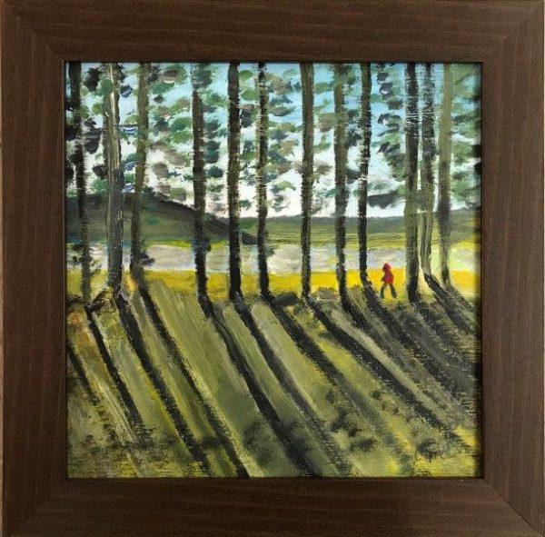 Loch Morlich-a, Carol Elizabeth Morrow, Acrylic, 2019 37.5x37.5cm
