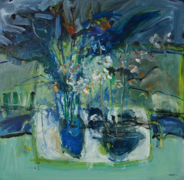 Blue Still Life, Andy Cross, 24x24cm