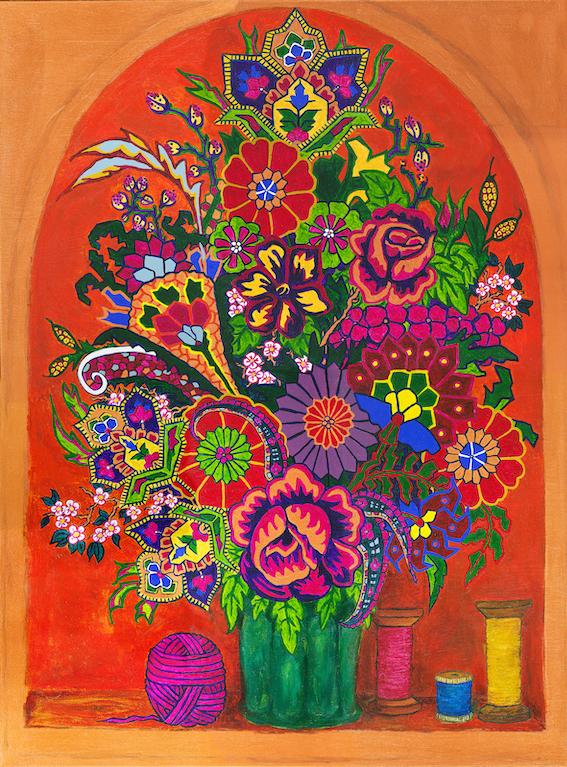 Paisley Dutch Flowers