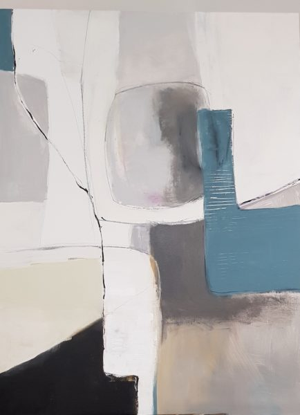 untitled abstract, Marion Back, acrylic on canvas, 120 x 90 cm