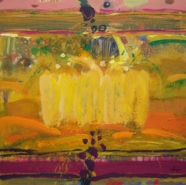 Harvest Gold, Joe Hargan, 40x40 inches mixed media