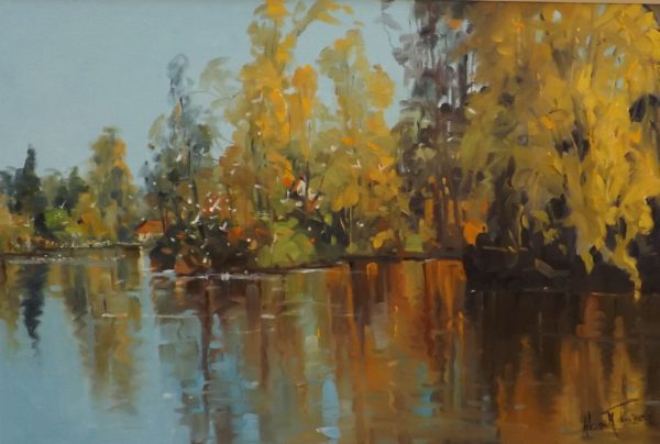 "Autumn Reflections, Helen M. Turner, 24""x 32"