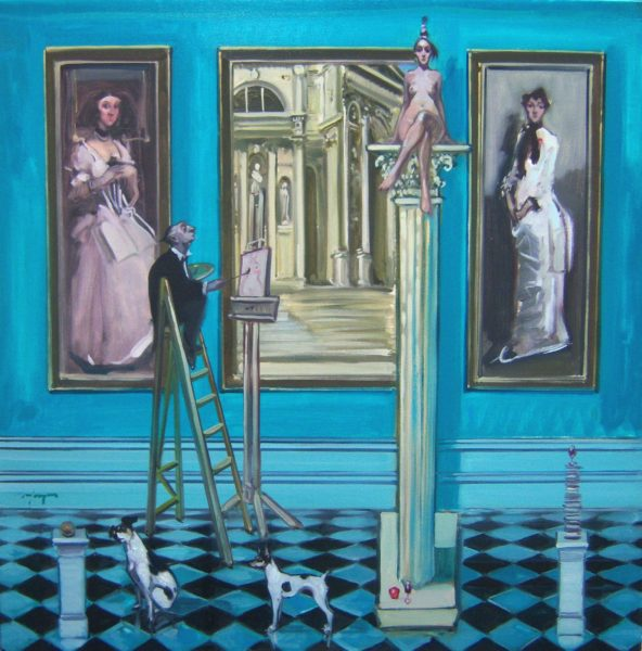 High Art, Joe Hargan, 40x40 inches oil on canvas