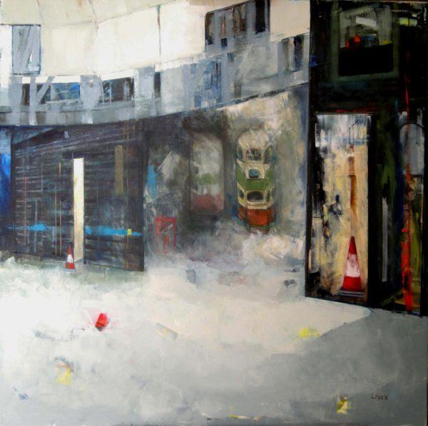 sic transit gloria mundi, Liz Knox, oil on canvas 36 x 36 inches