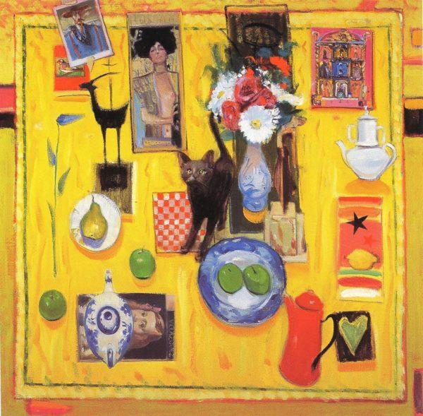 Still life with jasmine, Joe Hargan, oil on canvas 40x40 inches