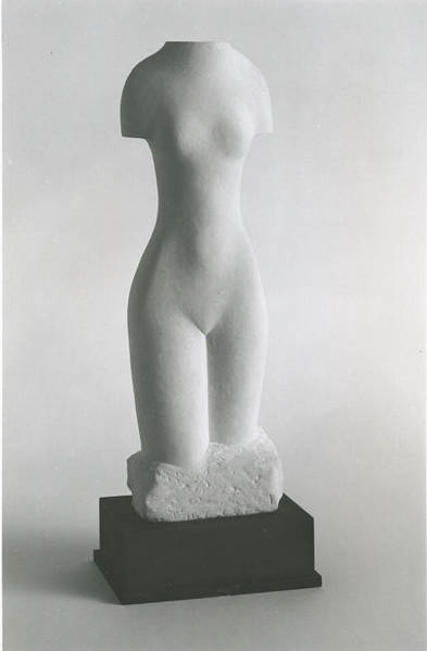 Maltese Venus ii, Dr Alastair R Ross, Maltese globigerina  limestone  carving. (In collection of the Royal Scottish Academy)