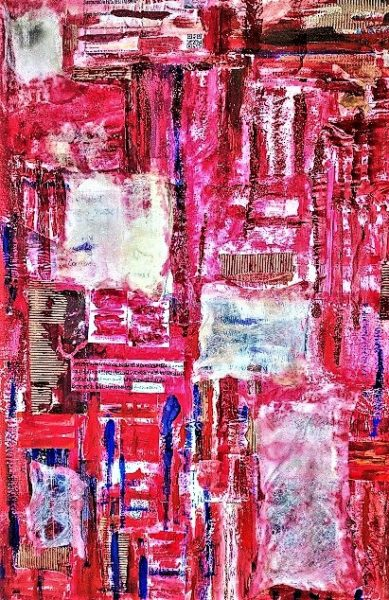 Papering Over The Cracks, Alison Brewster, Mixed Media 75cm x 100cm