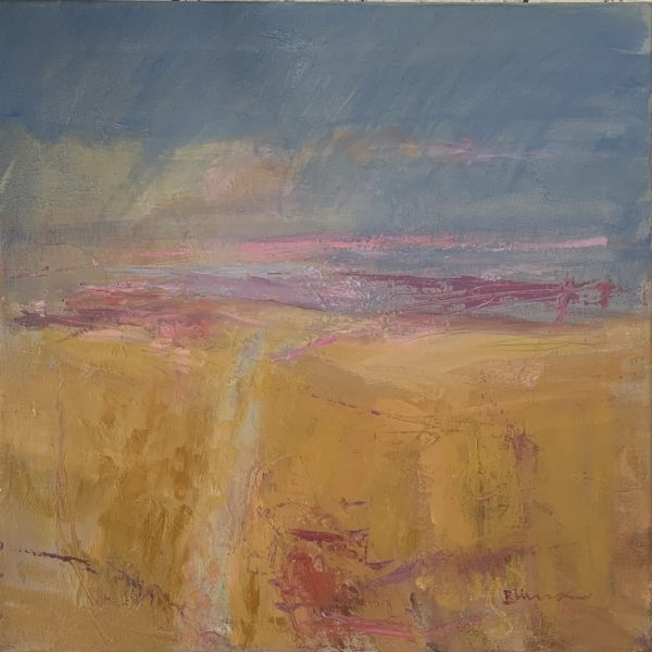 A March Landscape, Bridget Hunter, #172: oil, 51x51cm