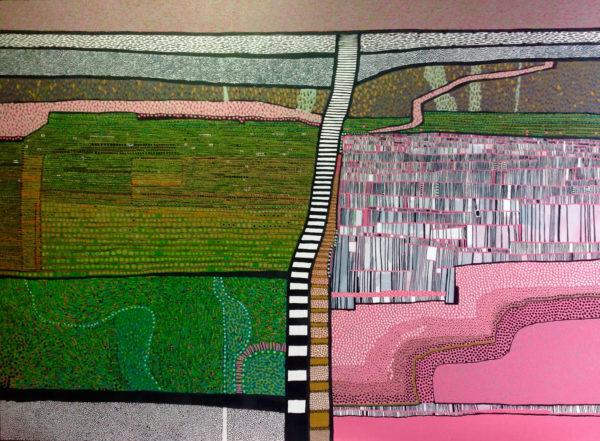 Onwards and Upwards, Carol Dewart, #092: oil, 122x92cm