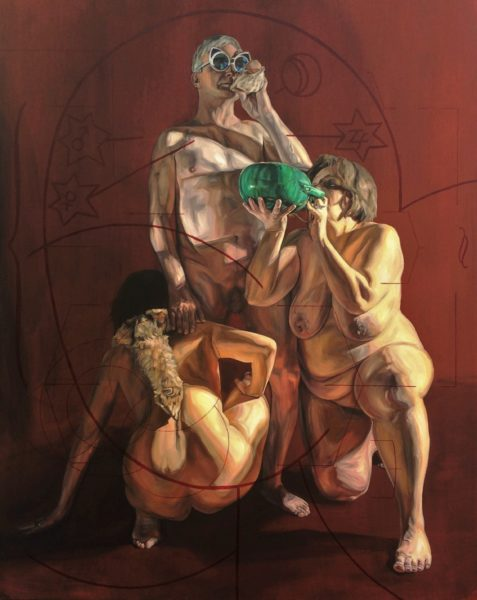 The Offering, Claire Paterson, #286: oil on canvas, 122cm × 152cm