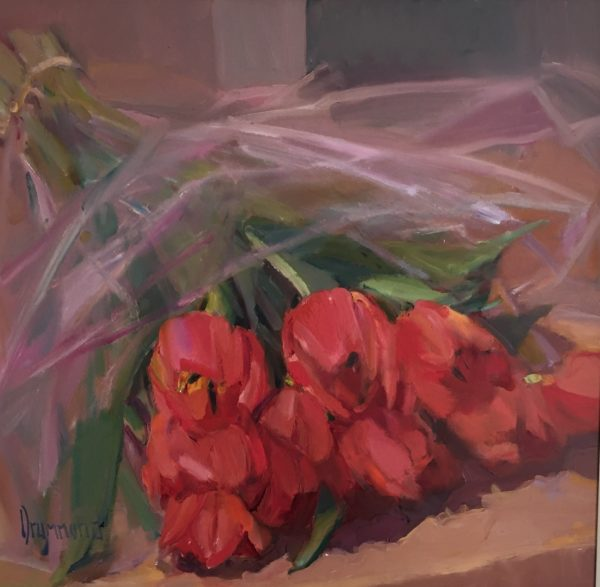 Bouquet, Marion Drummond, #097: oil on board, 51x51cm