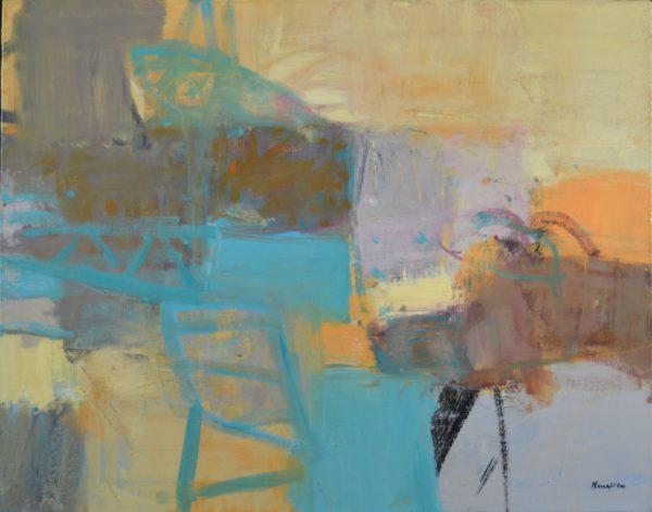 Clydeside, John Kingsley, #187: oil on canvas, 76x97cm