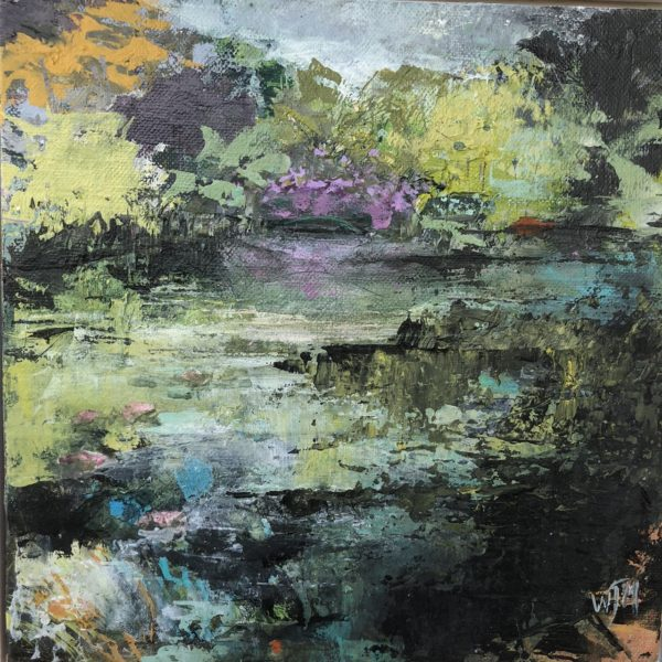 Morning in Giverny, Wilma  McFadzean, #232: mixed media, 20x20cm, framed
