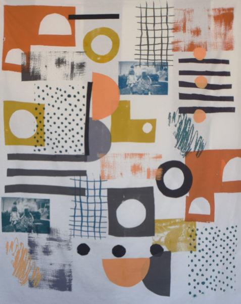 Glasgow Gals, Nicole Brownlie, #047: screen print on cloth, 147x169cm