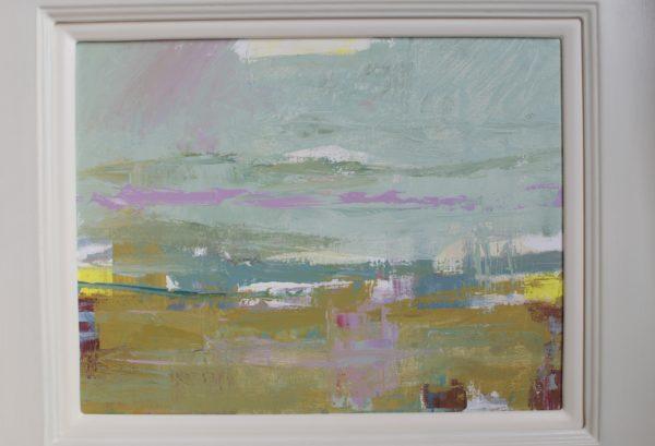 Misty Morning over Croy Shore, Hugh McKay, #241:  acrylic on canvas, 51x62cm, framed