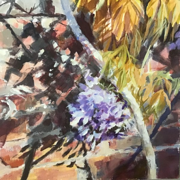 Wisteria in the garden, Margaret Mac Donald, #204: acrylic, 30x30cm