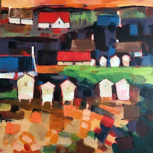 The Beehives of Aberfeldy, Fiona  Scott-Brown, #326:  acrylic, 50x50cm