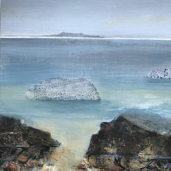 On The Shore, Wilma  McFadzean, #233: mixed media, 40x40cm, framed