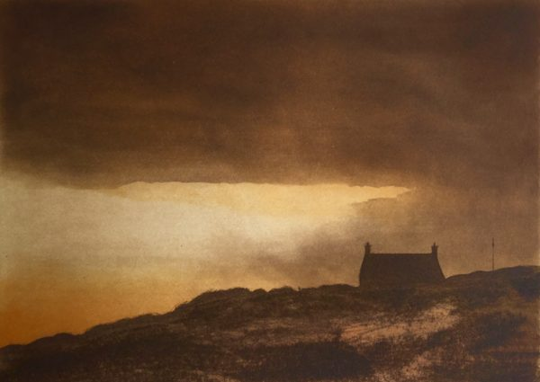 Last Light, Gregory Moore, #256: etching, 25x18cm