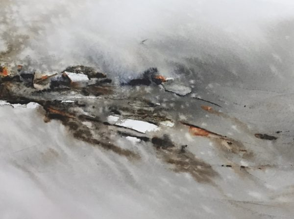 Gathering Storm, Caroline Borland, #027:  watercolour, 16x21cm