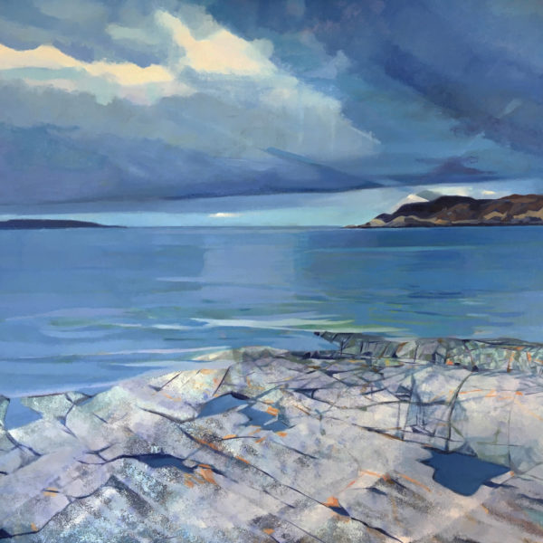 Arisaig, Traigh Beach, Ann Armstrong, #011:  80x80cm, oil on linen
