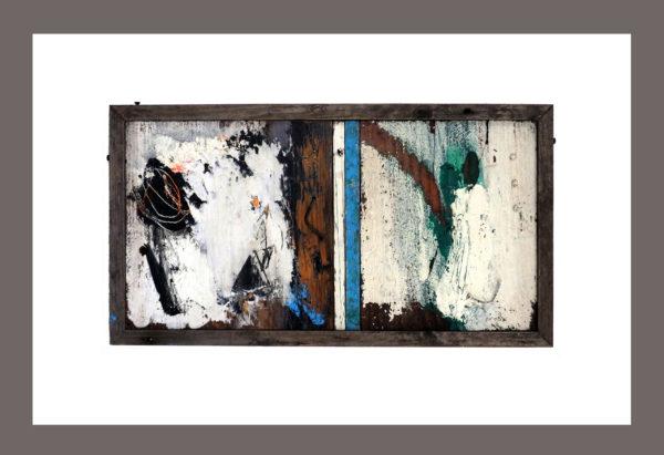 Flotsam and jetsam, Chris Brook, #038: mixed media construction, 64x46cm