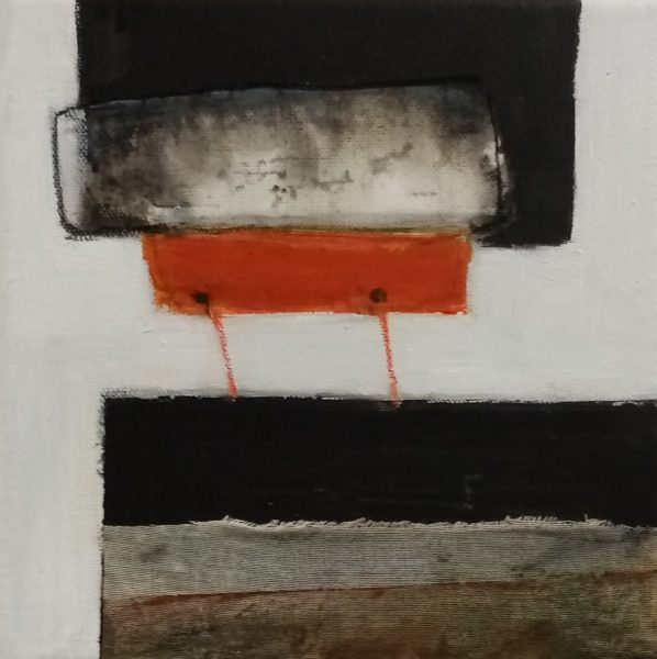 Connecting Line 2, Georgie McGowan, #236:  mixed media, 20x20cm