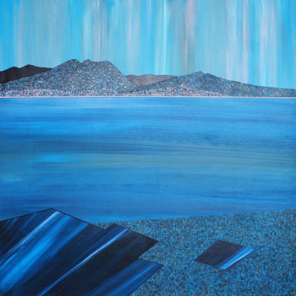 Carradale from Machrie, Arran, Jill Macleod, #214: acrylic on board, 60x60cm