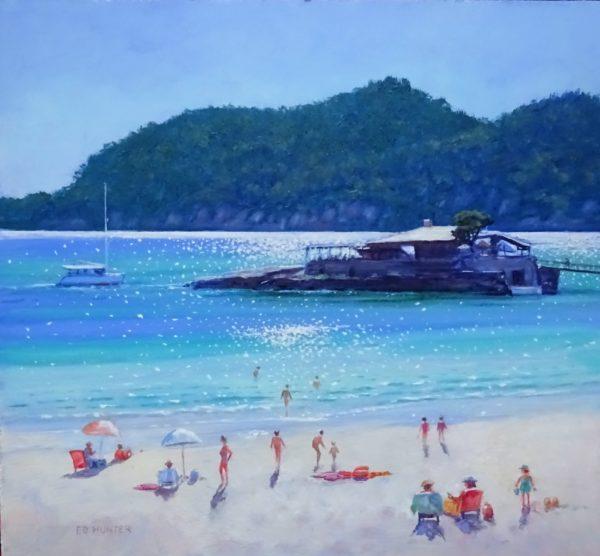 Bar Illetas, Camp de Mar, Ed Hunter, #168: oils, 37x40cm