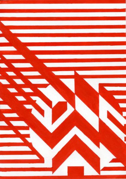 Djed, Alan Campbell, #052: gouache on paper, 14.8x21cm