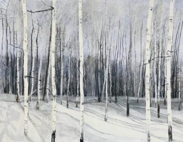 Silver Frost, Sandra Moffat, #253:  mixed media, 73x60cm